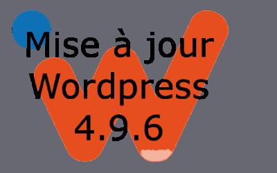 Mise à jour WordPress 4.9.6